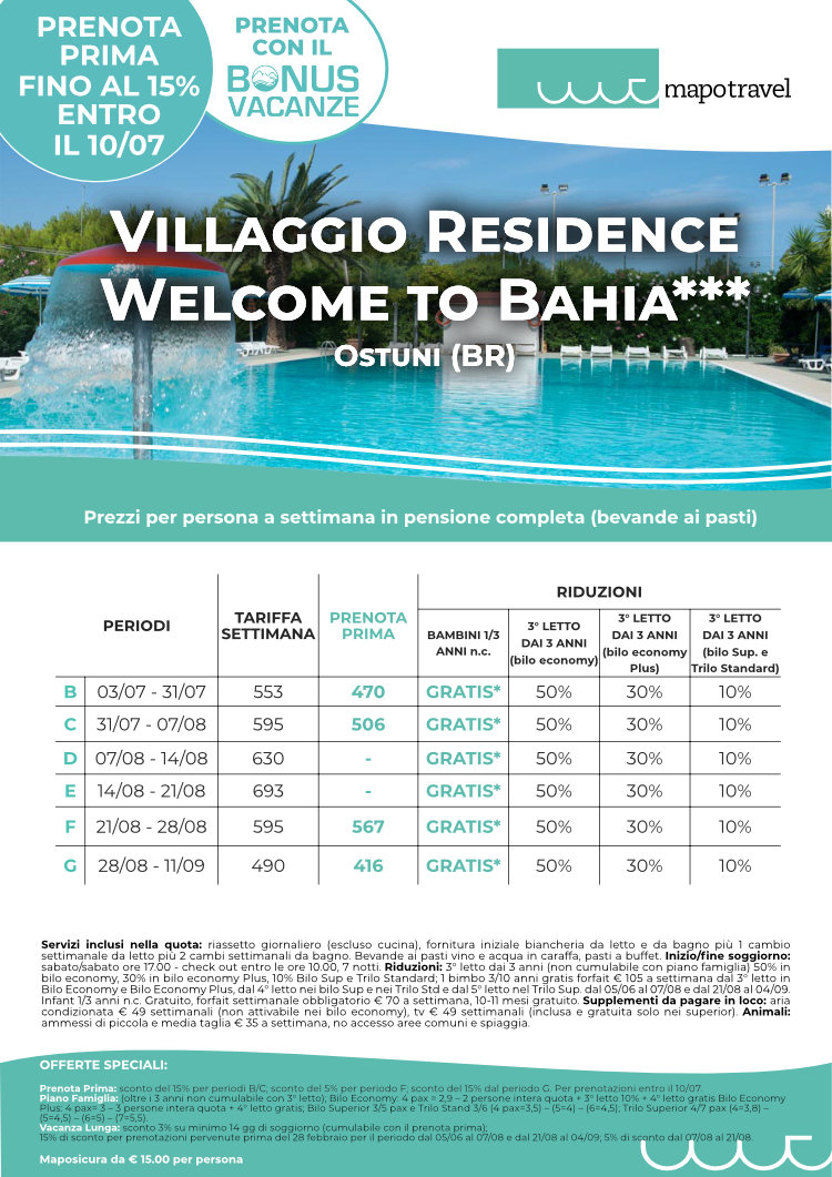 Villaggio Residence Welcome to Bahia